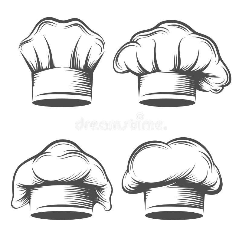 Retro szefa kuchni kapelusz ilustracja wektor