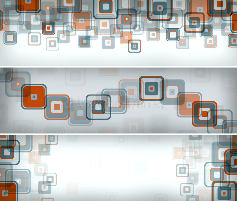 retro sztandarów kwadraty royalty ilustracja