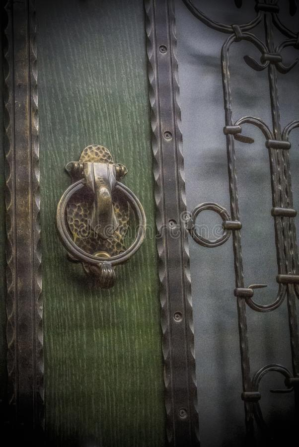 Retro- Türschloss lizenzfreie stockfotos