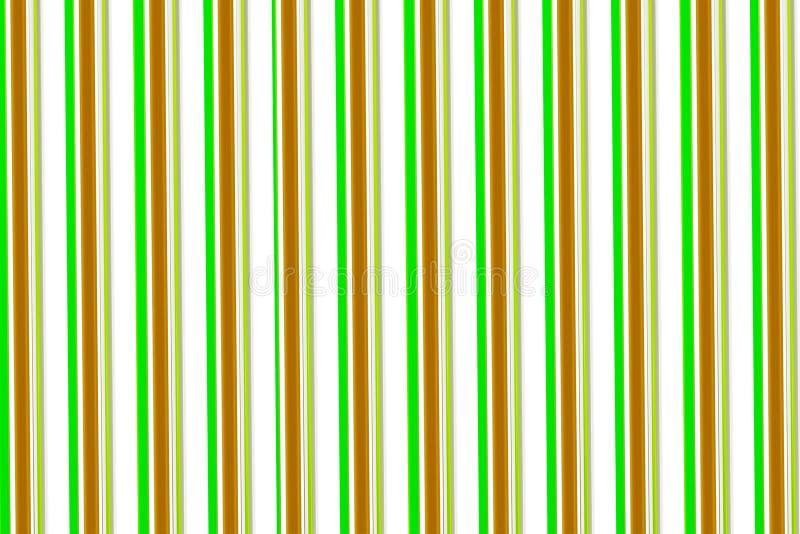 Retro tła brezentowi kolorowi lampasy na białym tle zielenieją brązów pionowo lampasów beżowego symetrycznego kolorowego projekt ilustracja wektor