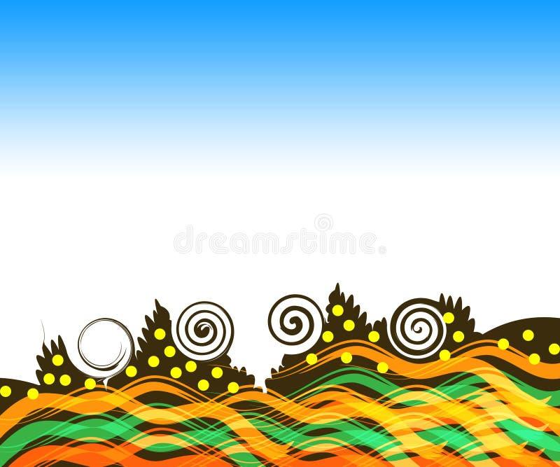 retro tło ilustracji