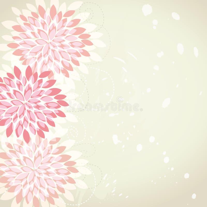 retro tło kwiat royalty ilustracja