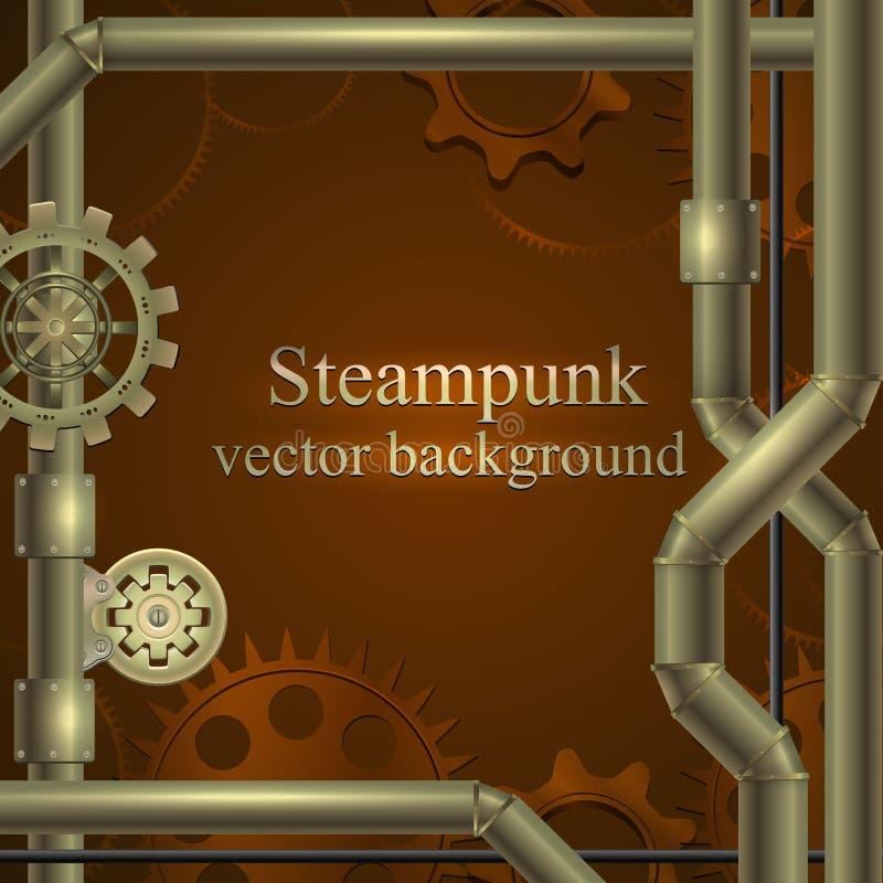 retro tło Steampunk ilustracji