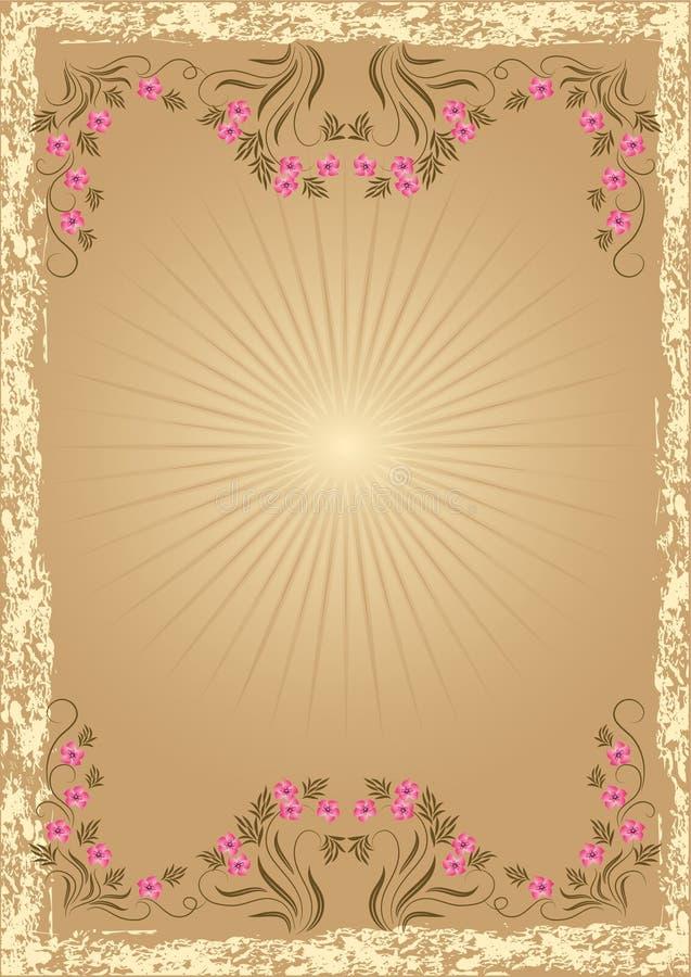 Download Retro tło styl ilustracja wektor. Ilustracja złożonej z kardamon - 13338186