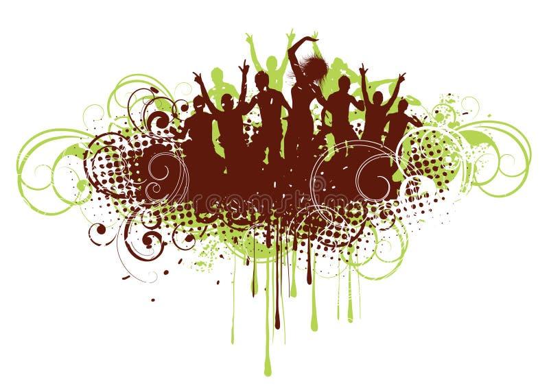 Download Retro tło taniec ilustracja wektor. Obraz złożonej z digitalis - 8976937