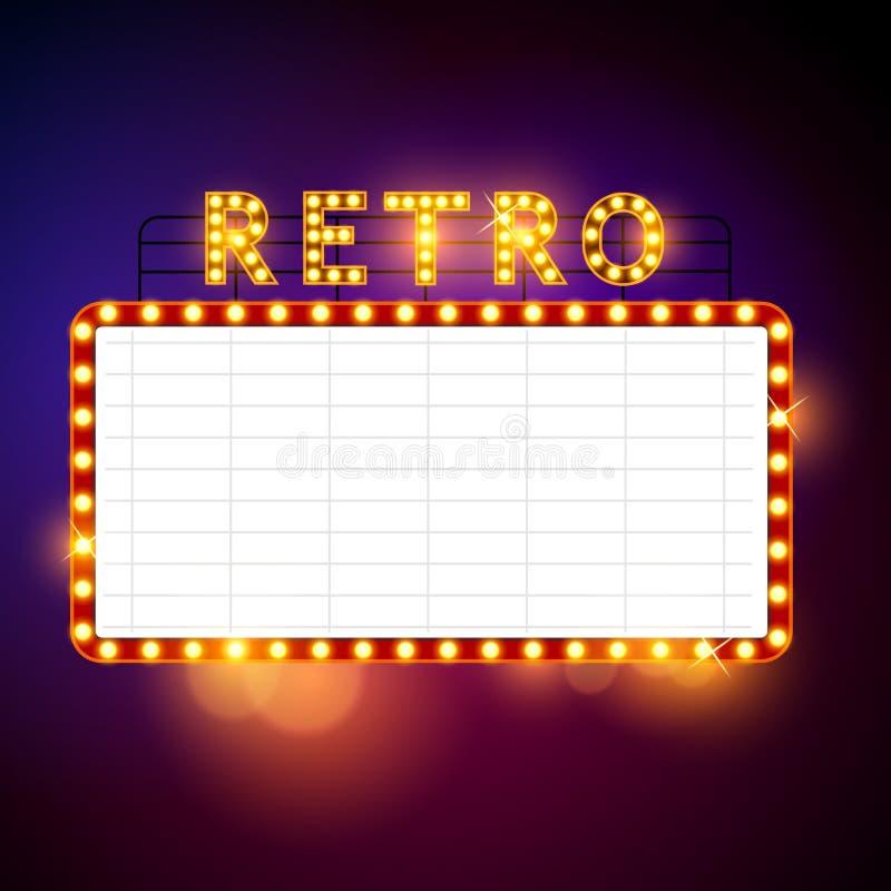 Retro tabellone per le affissioni d'annata royalty illustrazione gratis
