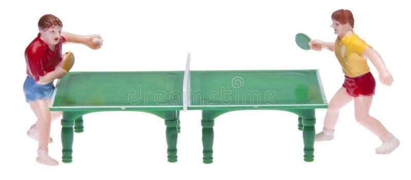 Retro Table Tennis Match royalty free stock photos