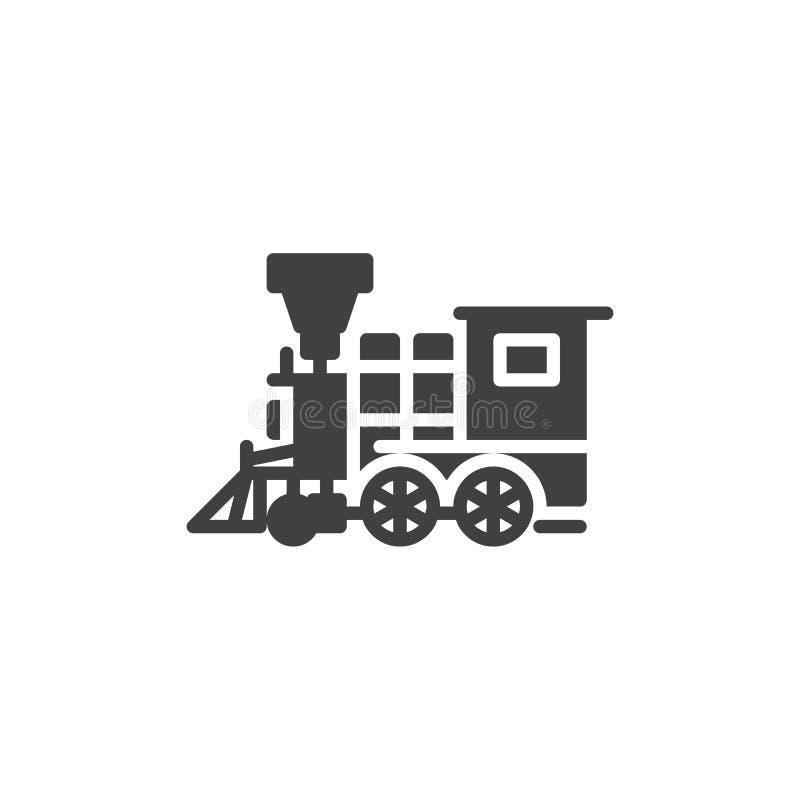 Retro taborowa wektorowa ikona ilustracji