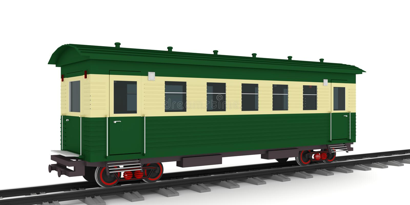 Retro taborowy furgon 3d odpłaca się, ilustracja wektor