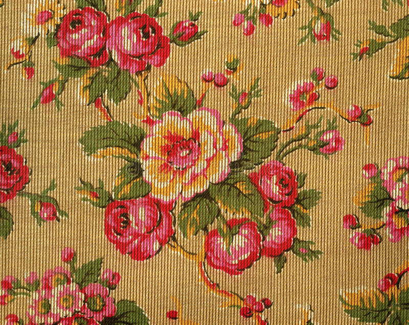 Download Retro tapestry with roses stock image. Image of pattern - 39506311