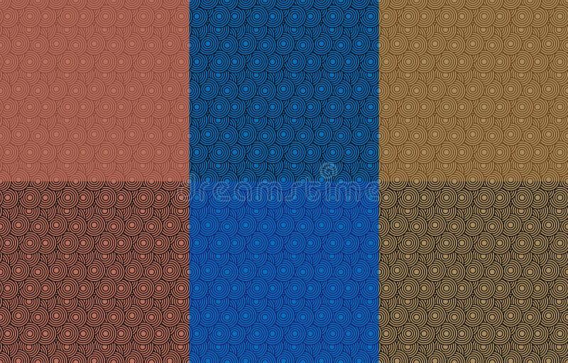 Retro tapetpacke Abstrakt sömlös geometrisk modell med cirklar stock illustrationer
