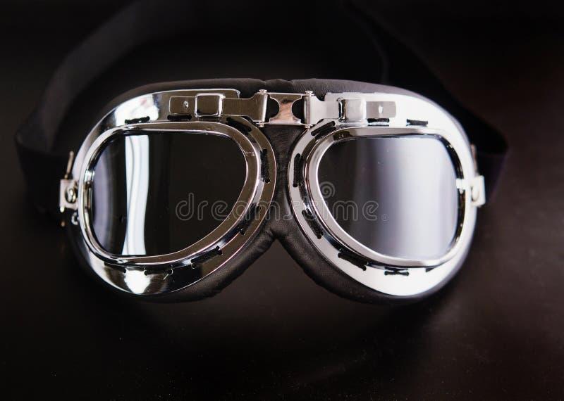 retro tappning för gogglesmotorbike arkivbild