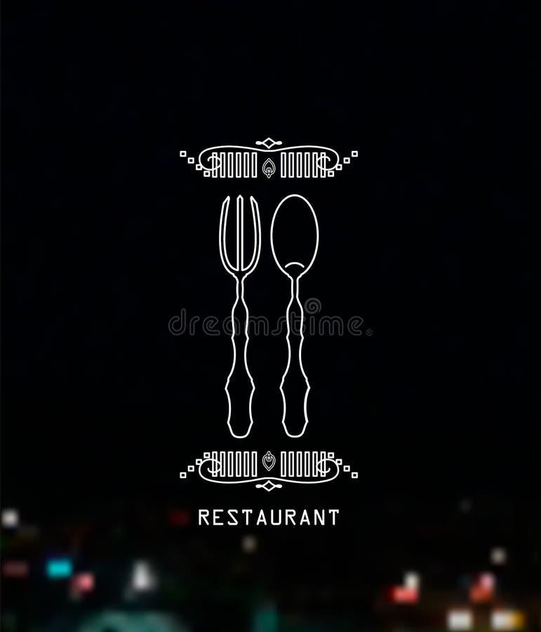 Retro tappninggradbeteckning, logo, etikett eller restaurangsymbol Beståndsdel för vektordesignen, mall för affärstecken vektor illustrationer