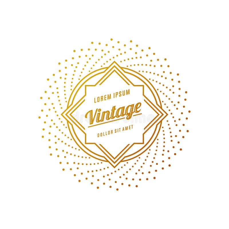 Retro tappninggradbeteckningar eller logotyper Vektordesignbeståndsdelar, affär undertecknar, logoer, identitet, märker, förser m stock illustrationer