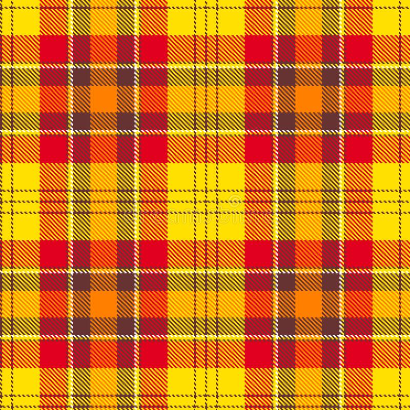 Retro tartan for fabric design. Modern abstract concept. Seamless pattern tartan. Graphic vector background. Material. Design style. Vector seamless background stock illustration