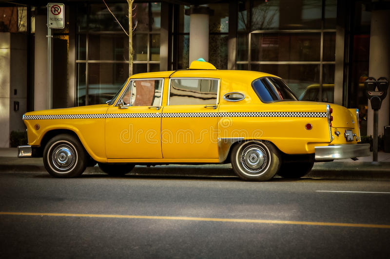 Retro Taxi Cab stock images