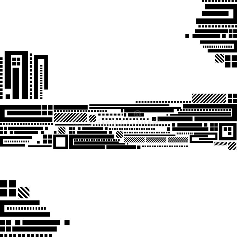 retro techno för bakgrund stock illustrationer