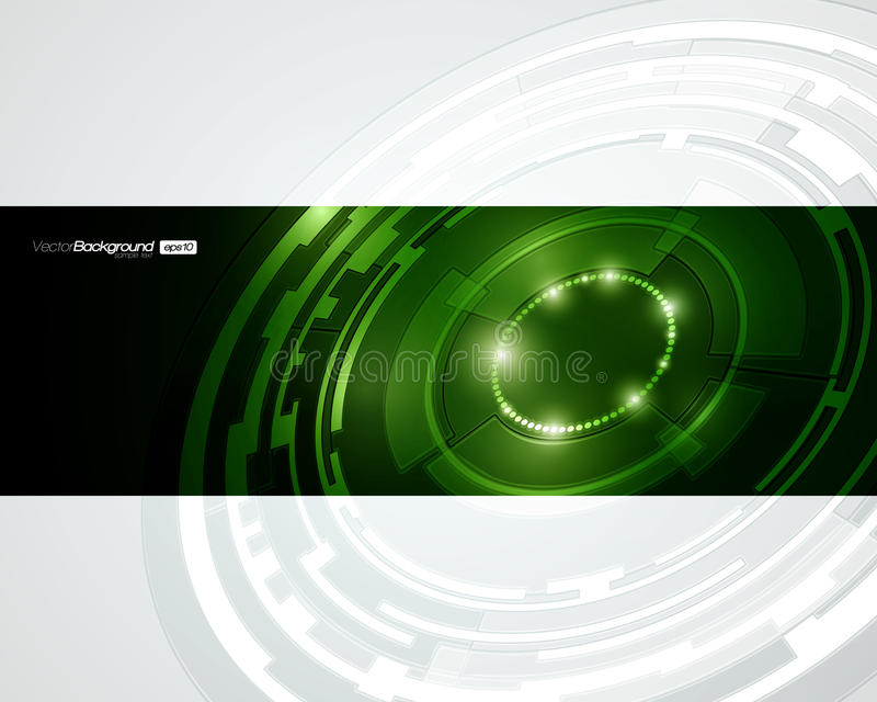 Retro Technologii Okręgu Wektorowy Projekt royalty ilustracja