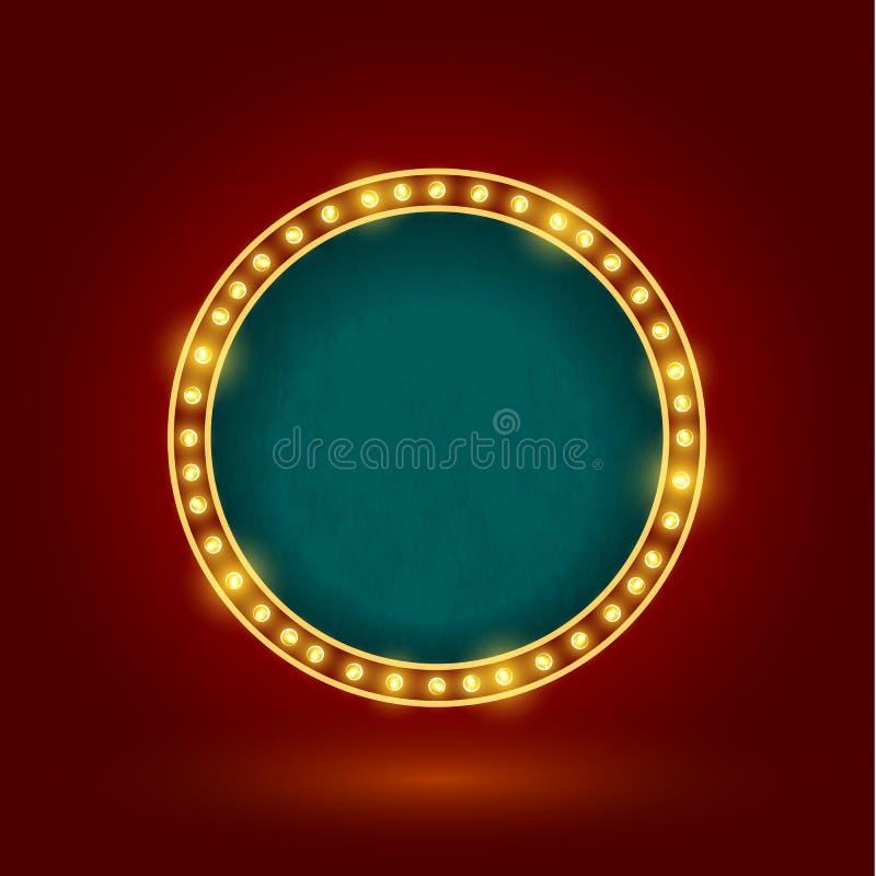 Retro tecken för cirkel vektor illustrationer