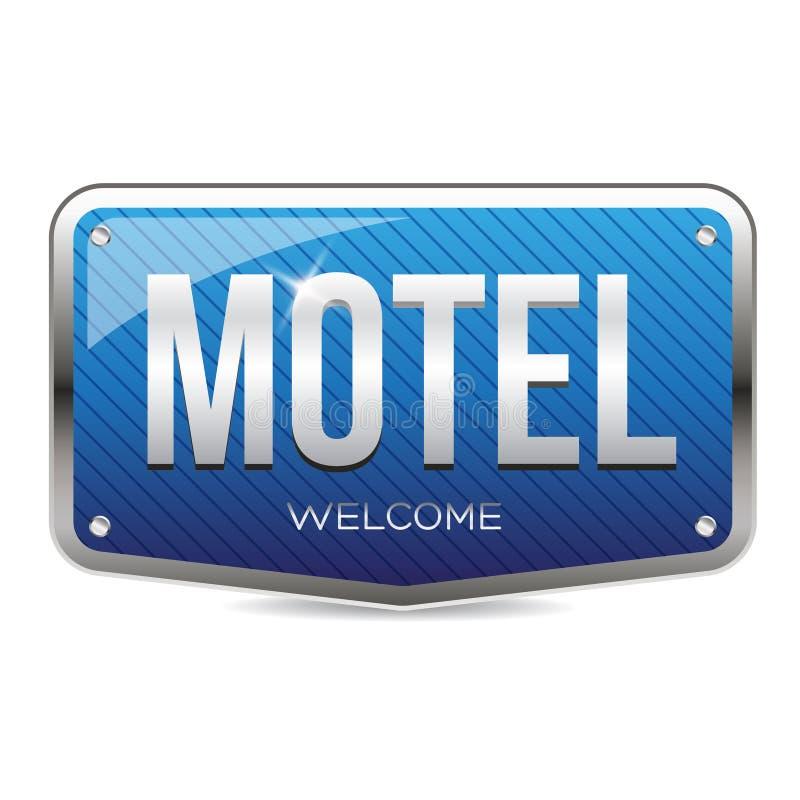 Retro teckenvektor för motell royaltyfri illustrationer