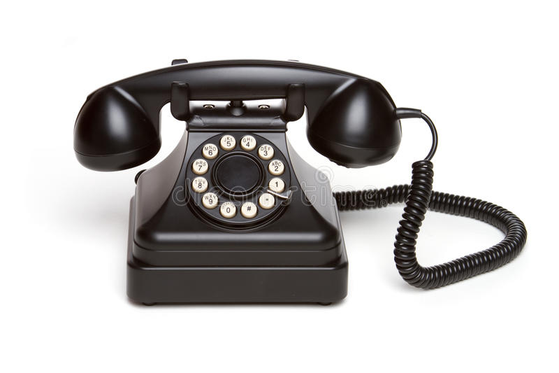 retro telefon zdjęcia stock