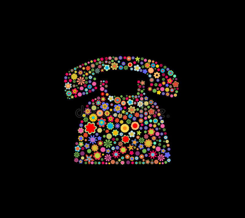 Retro telefon royaltyfri illustrationer