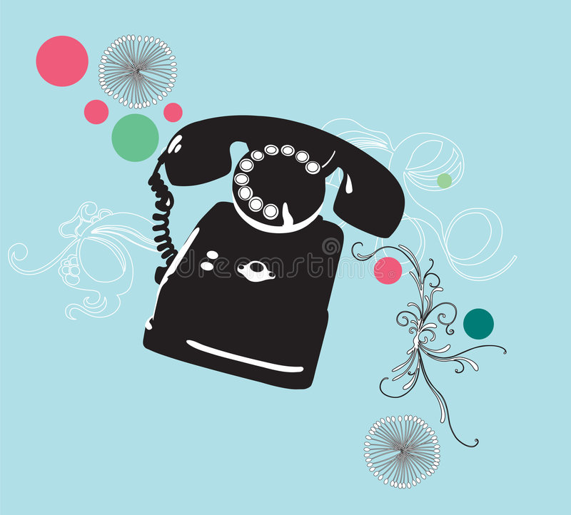 retro telefon vektor illustrationer
