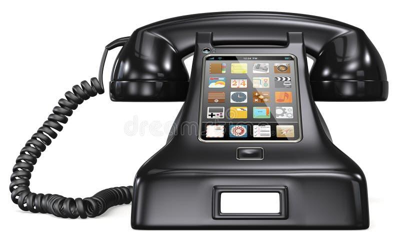 Retro telefon för stolpe. vektor illustrationer