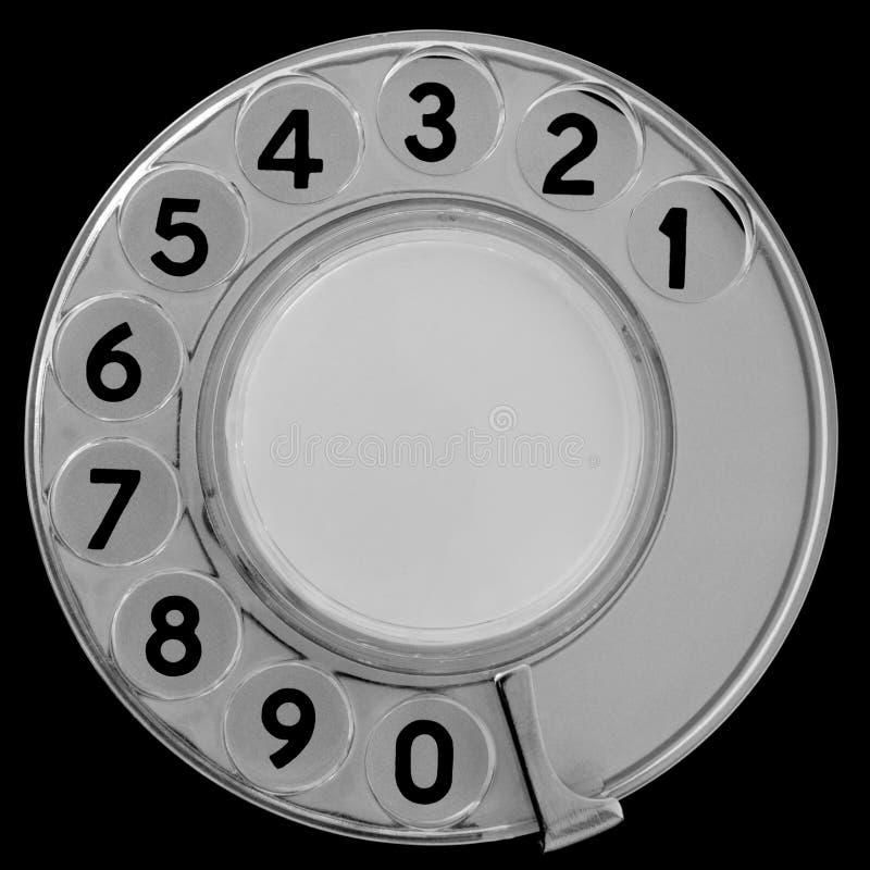 Retro telefon tarcza obrazy stock