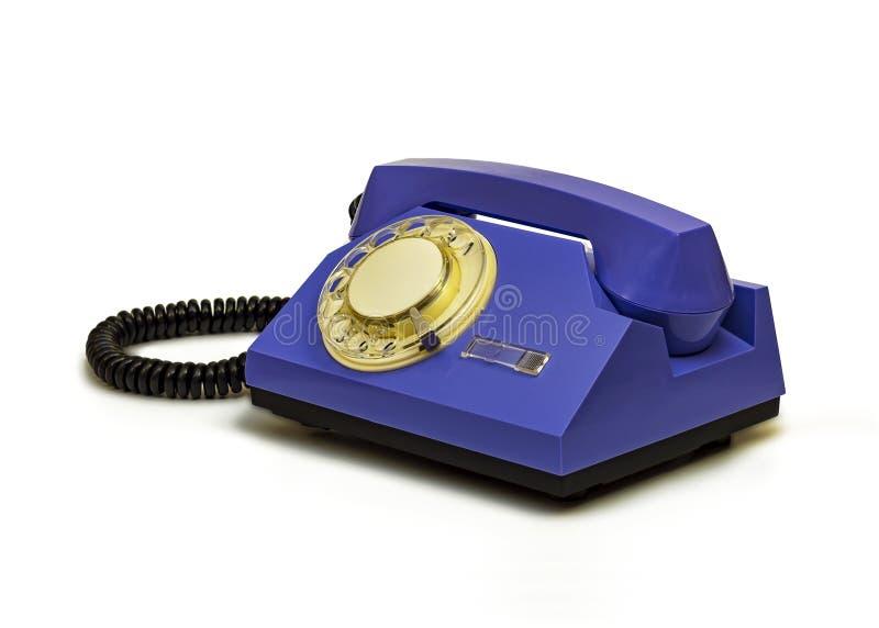 Retro telefon z round dialerem na białym tle zdjęcia stock