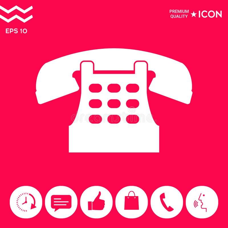 Retro telefoniczna ikona royalty ilustracja