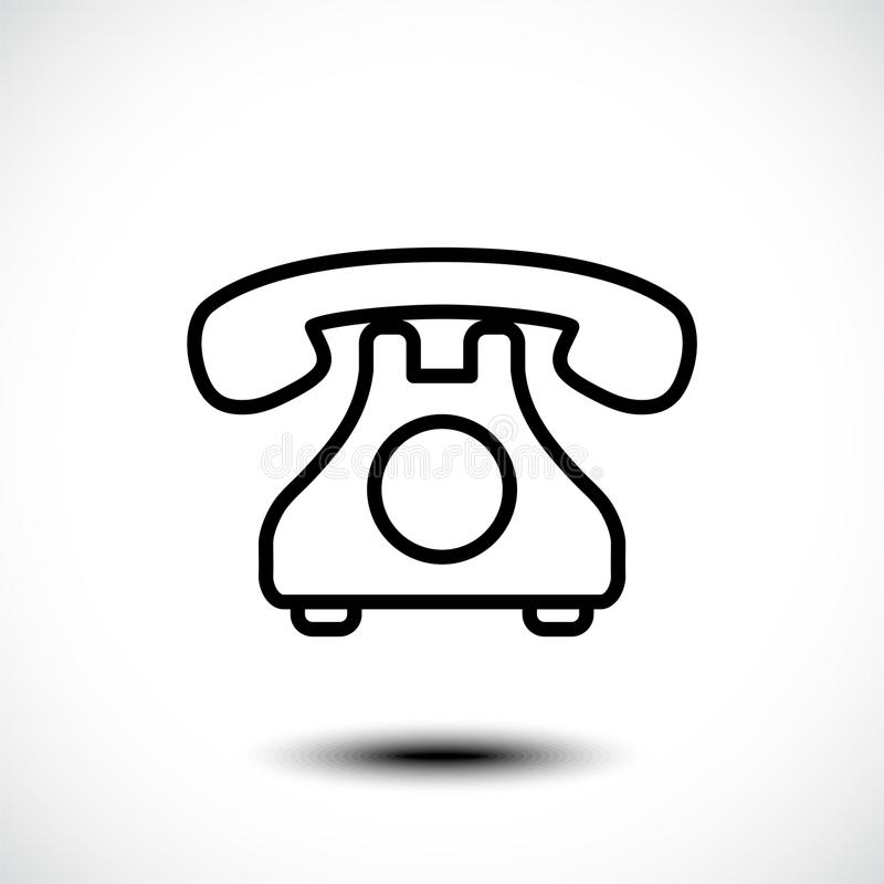 Retro- Telefonikone Auch im corel abgehobenen Betrag lizenzfreie abbildung