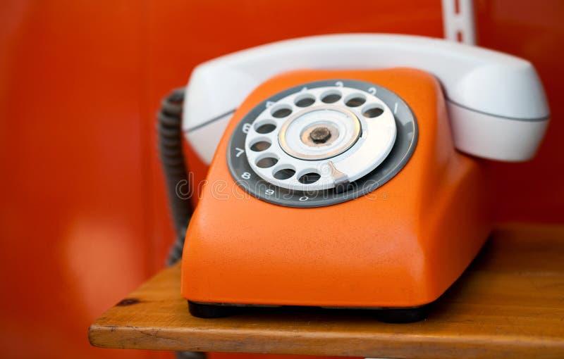 Retro telefono immagine stock