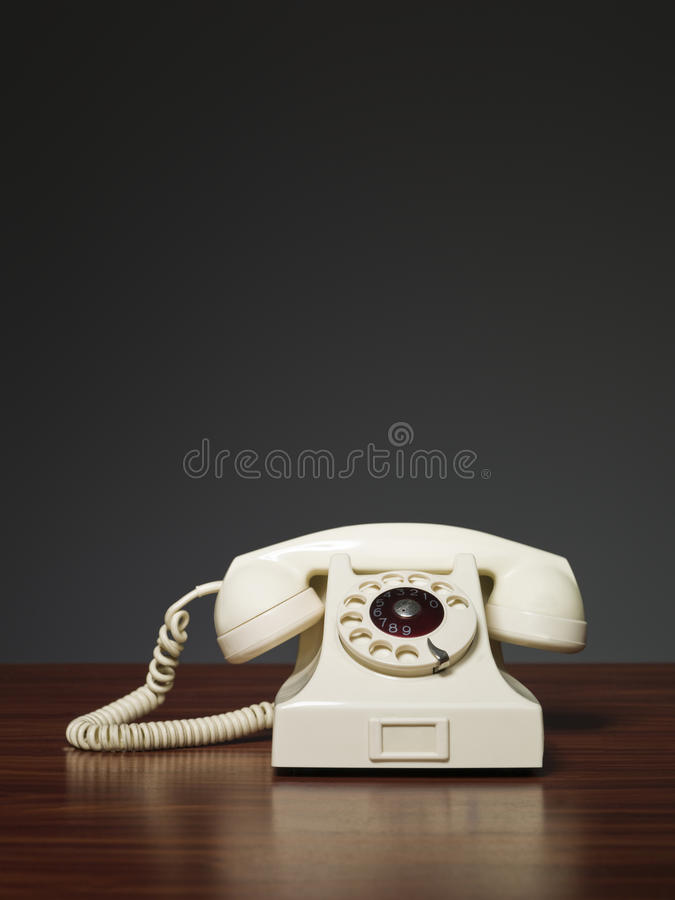 Retro telefono di plastica fotografia stock