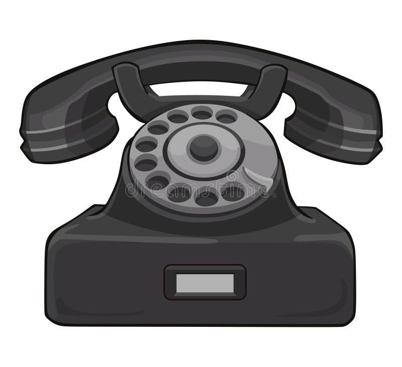 Retro telefono nero illustrazione di stock