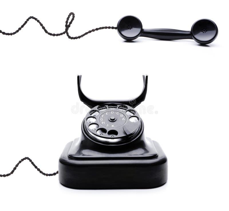 Retro telefono nero fotografie stock