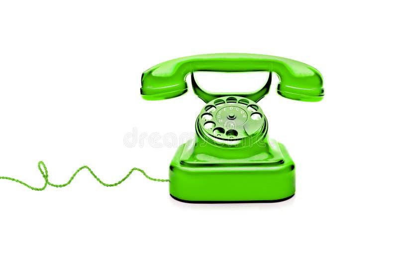 Retro telefono verde immagini stock libere da diritti