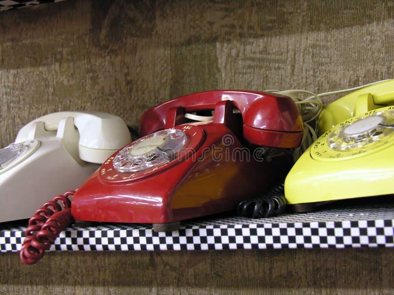 Retro Telefoons royalty-vrije stock afbeelding