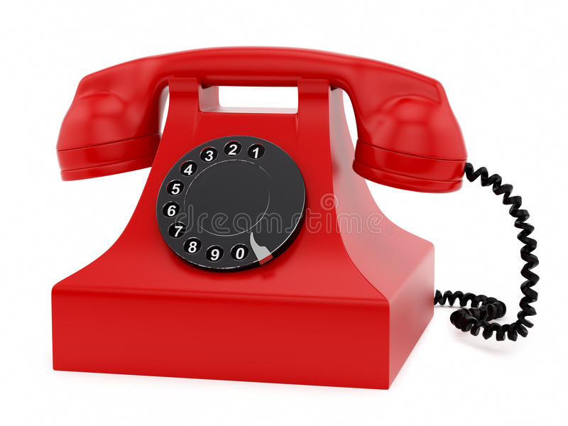 Download Retro telephone stock illustration. Image of front, dial - 28769060