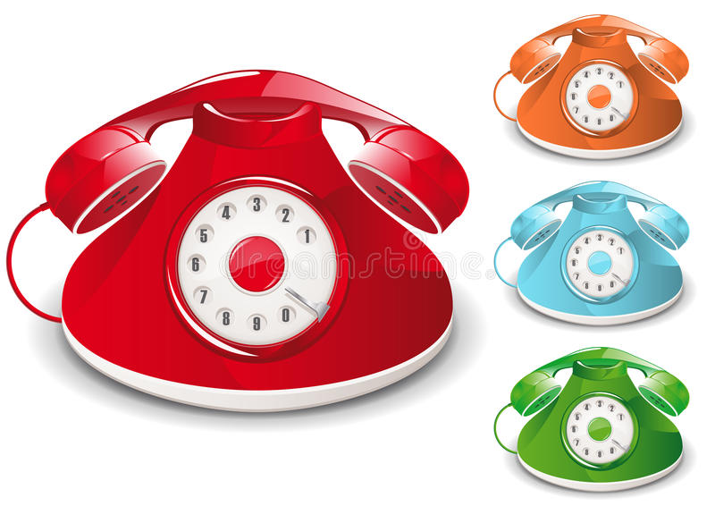 Retro Telephone. Illustration (Global Swatches Included vector illustration