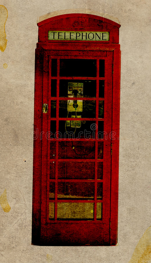 Retro Telephone Booth royalty free stock image