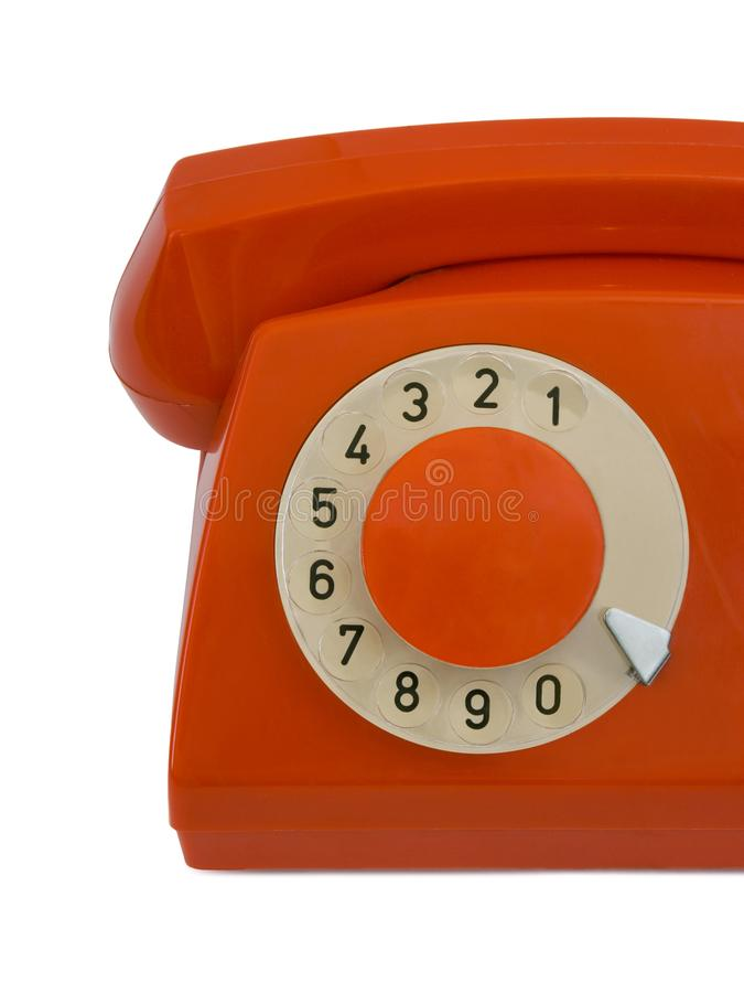 Retro telephone, close-up stock photography