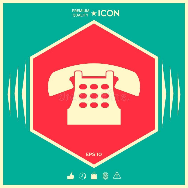Retro telephone icon royalty free illustration