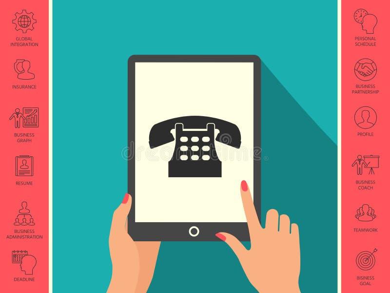 Retro telephone icon stock illustration