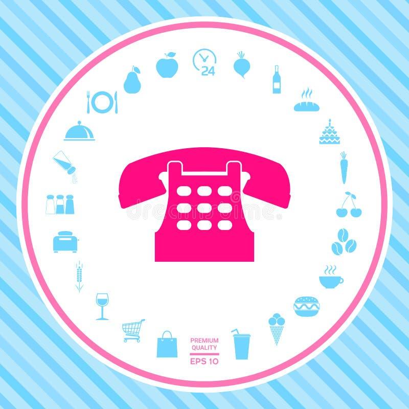 Retro telephone icon vector illustration