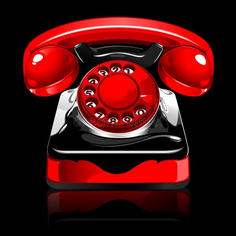 Retro telephone stock illustration