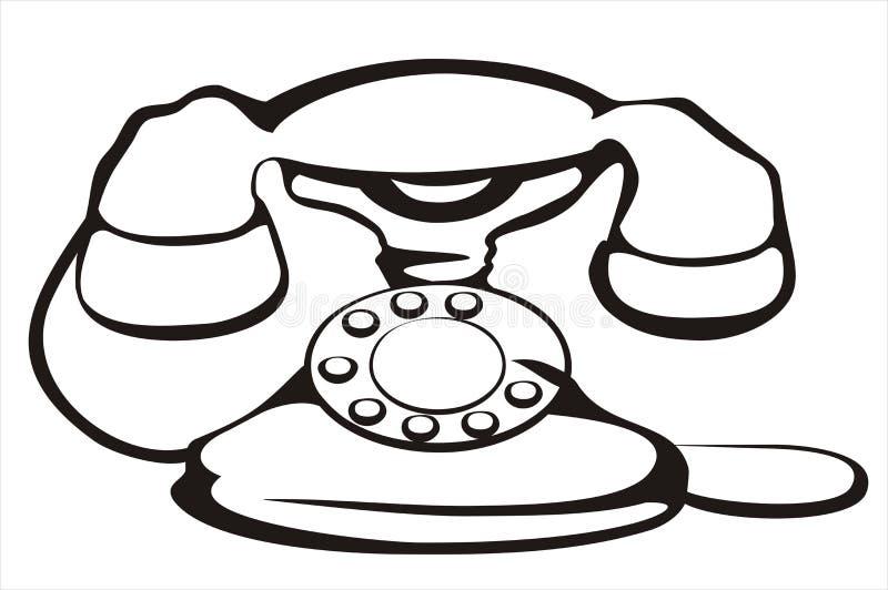 Retro telephone symbol royalty free illustration