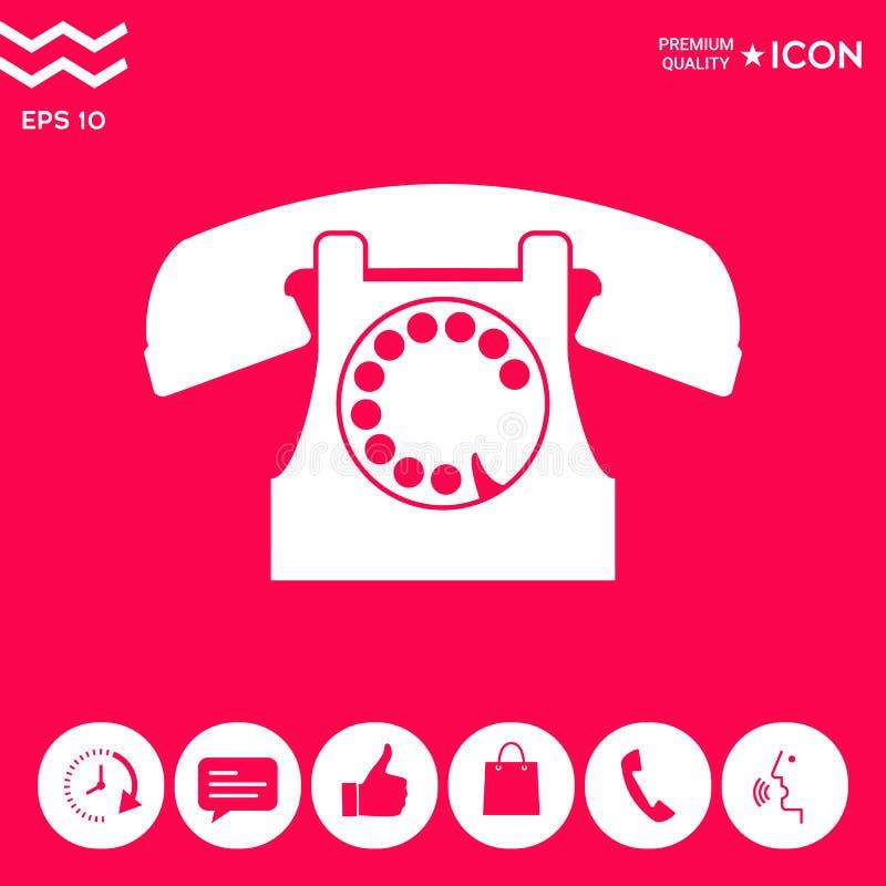 Retro Telephone Symbol Stock Vector Illustration Of Graphic 119978160