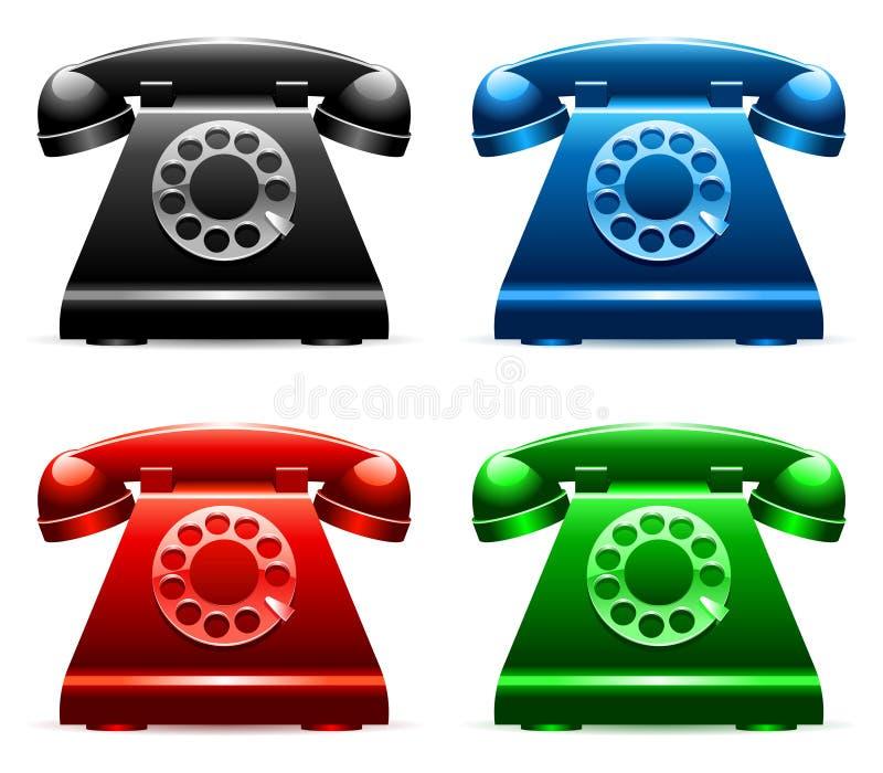 Retro Telephones. Stock Image