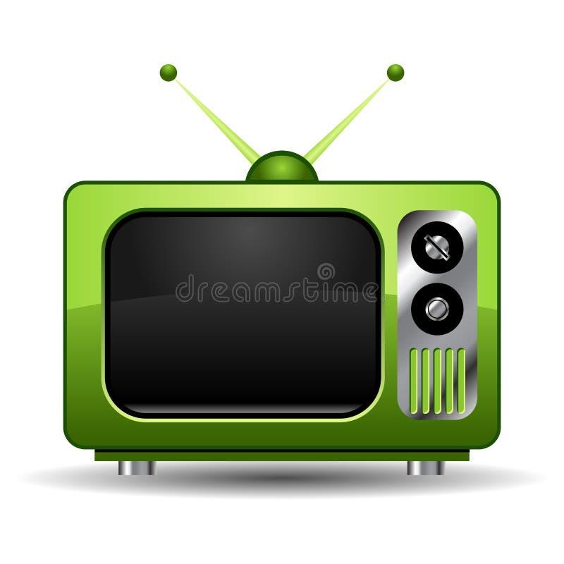Retro Televisie stock illustratie